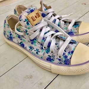 Blue Floral Converse